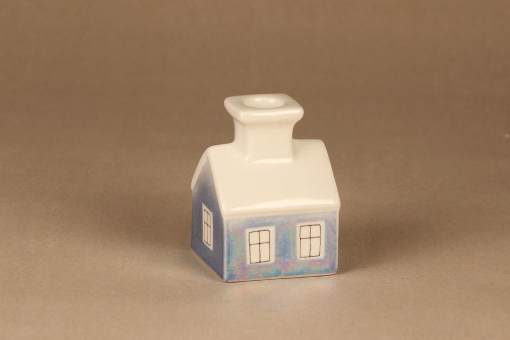 Arabia HLS kynttilätalo, sininen, suunnittelija Heljä Liukko-Sundström, talo,