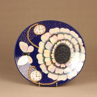 Arabia Florence art ceramic plate, pearl decorative designer Birger Kaipiainen