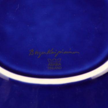 Arabia Florence taidekeramiikkavati, helmikoristeltu, suunnittelija Birger Kaipiainen, helmikoristeltu, Signeerattu, helmikoristeltu kuva 3
