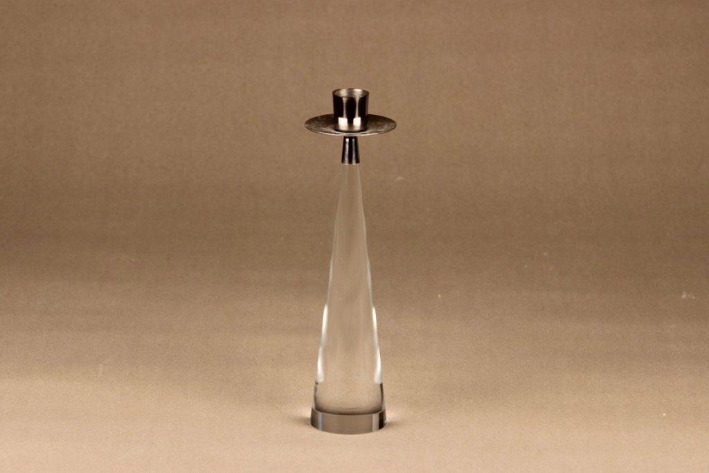 Iittala Ascot kynttilänjalka, kirkas, hopea, suunnittelija Timo Sarpaneva,