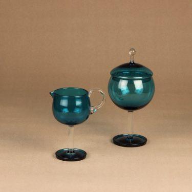 Riihimäen lasi Harlekiini sugar bowl and creamer designer Nanny Still