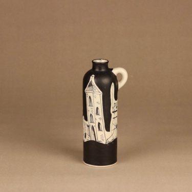 Kupittaan savi vase, hand-painted designer H.C. von Rumsolukin