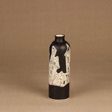 Kupittaan savi maljakko, käsinmaalattu, suunnittelija H.C. von Rumsolukin, käsinmaalattu, signeerattu kuva 2