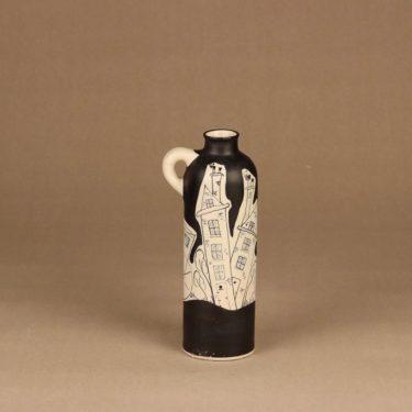 Kupittaan savi maljakko, käsinmaalattu, suunnittelija H.C. von Rumsolukin, käsinmaalattu, signeerattu kuva 3