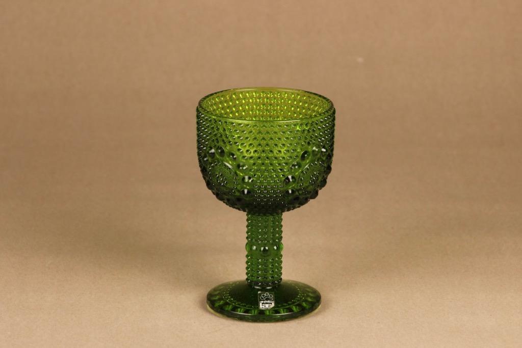 Riihimäen lasi Grapponia viinilasi, vihreä, suunnittelija Nanny Still, 15 cl