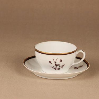 Arabia Diana teekuppi, suunnittelija Einar Forseth, art deco, painokoriste