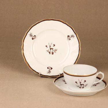 Arabia Diana teekuppi, suunnittelija Einar Forseth, art deco, painokoriste kuva 2