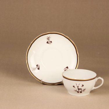 Arabia Diana teekuppi, suunnittelija Einar Forseth, art deco, painokoriste kuva 3