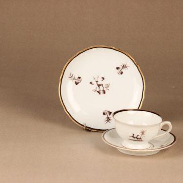 Arabia Diana kahvikuppi, suunnittelija Einar Forseth, art deco, painokoriste
