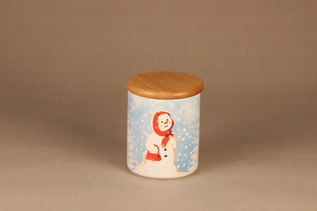 Arabia Snowman jar with lid designer Minna Immonen