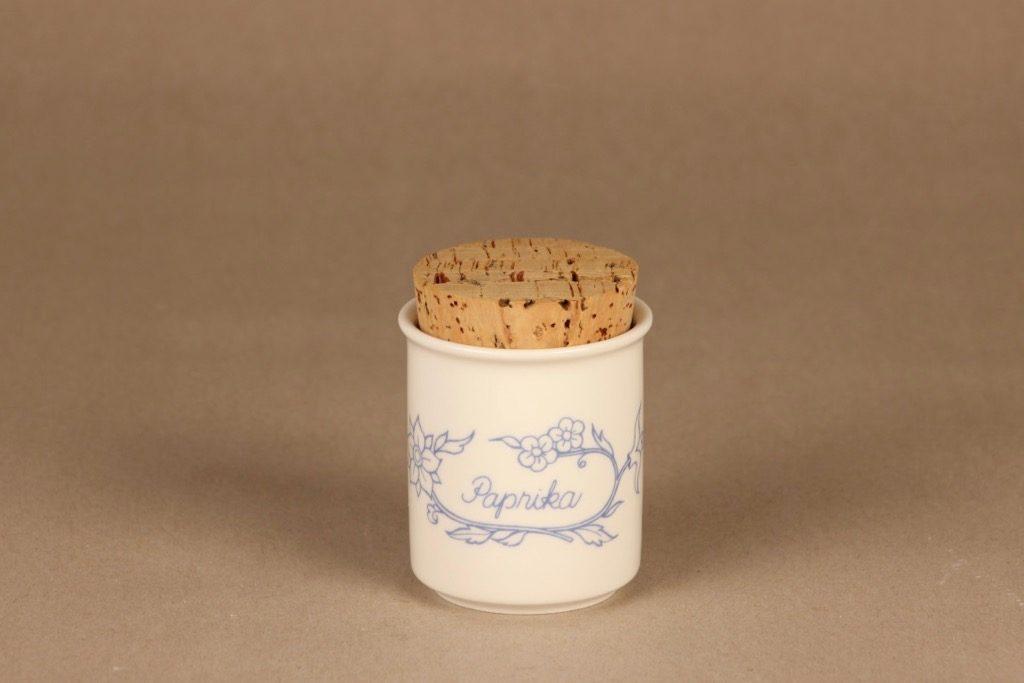 Arabia Sininen keittiö maustepurkki, paprika, suunnittelija , paprika, serikuva