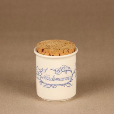 Arabia Sininen keittiö maustepurkki, kardemumma, suunnittelija , kardemumma, serikuva
