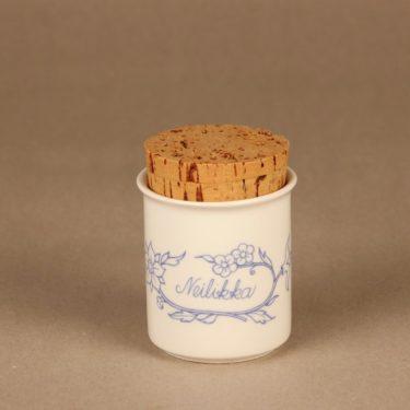 Arabia Sininen keittiö maustepurkki, neilikka, suunnittelija , neilikka, serikuva