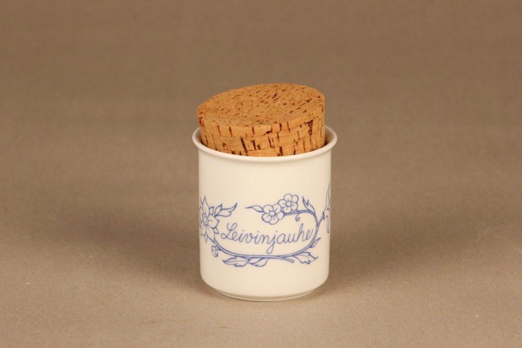 Arabia Sininen keittiö maustepurkki, leivinjauhe, suunnittelija , leivinjauhe, serikuva