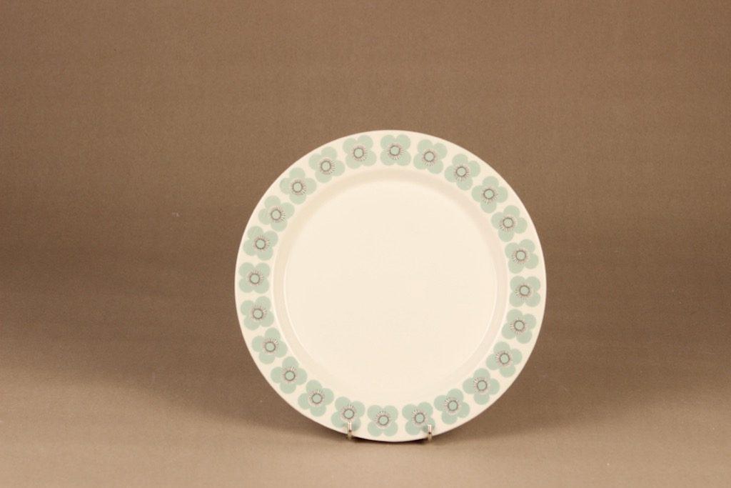 Arabia Veera dinner plate, designer Esteri Tomula, silk screening, flower, retro