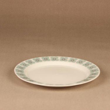 Arabia Veera dinner plate, designer Esteri Tomula, silk screening, flower, retro, 2