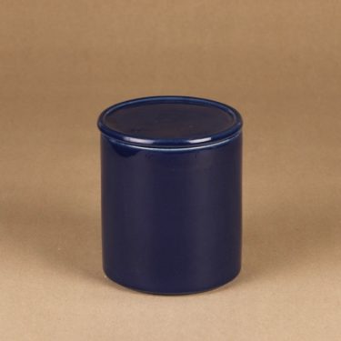 Arabia Kilta jar with lid, blue designer Kaj Franck