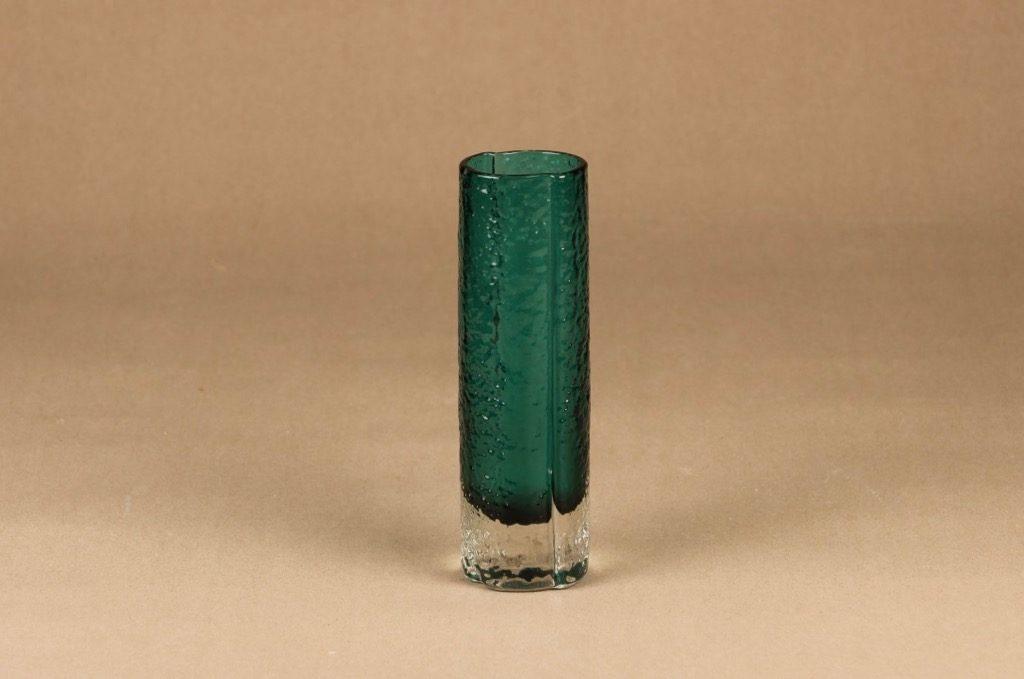 Riihimäen lasi 1456 vase, turquoise designer Tamara Aladin