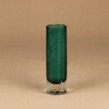 Riihimäen lasi 1456 maljakko, turkoosi, suunnittelija Tamara Aladin,