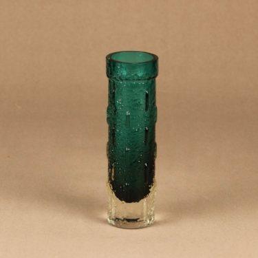 Riihimäen lasi 1461 maljakko, turkoosi, suunnittelija Tamara Aladin,
