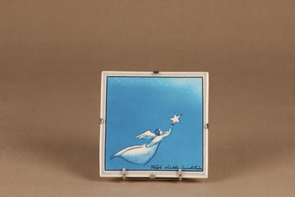 Arabia wall plate Flying angel designer Heljä Liukko-Sundström
