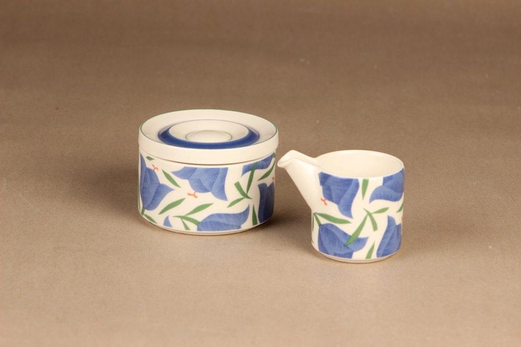 Arabia Balladi sugar bowl and creamer, diameter Heikki Orvola