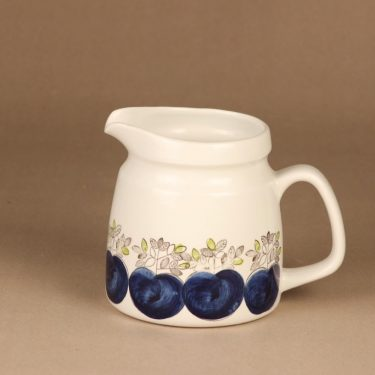 Rörstrand Viktoria pitcher, hand-painted designer Christina Campbell