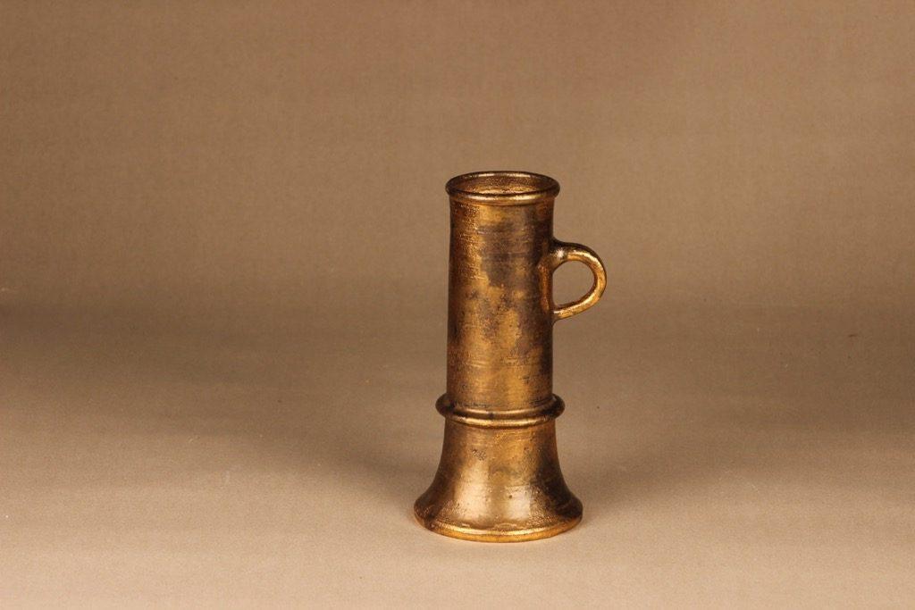 Savitorppa kynttilänjalka, signeerattu, suunnittelija Kauko Forsvik, signeerattu, käsindreijattu, kullattu