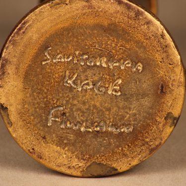 Savitorppa kynttilänjalka, signeerattu, suunnittelija Kauko Forsvik, signeerattu, käsindreijattu, kullattu kuva 3