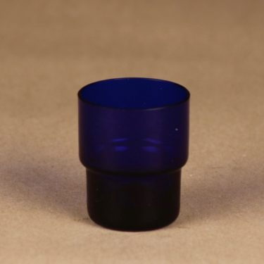 Nuutajärvi Stackable schnapps glass cobalt blue designer Saara Hopea, 3 cl