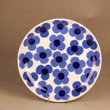 Arabia Aurinko tarjoilulautanen, sininen, suunnittelija Esteri Tomula, serikuva