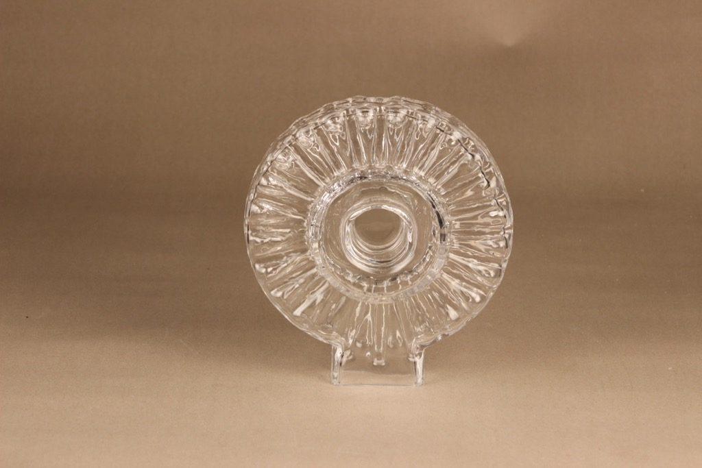 Riihimäen lasi Corona Taide-esine, signeerattu, suunnittelija Helena Tynell, signeerattu, kristalli