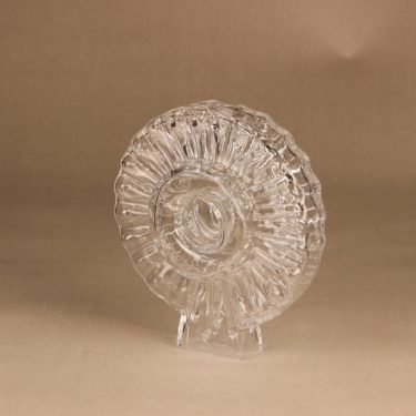 Riihimäen lasi Corona Taide-esine, signeerattu, suunnittelija Helena Tynell, signeerattu, kristalli kuva 2