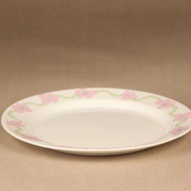 Arabia Villiruusu lautanen, pieni, suunnittelija Laila Hakala, pieni, serikuva, kukka, köynnös kuva 2