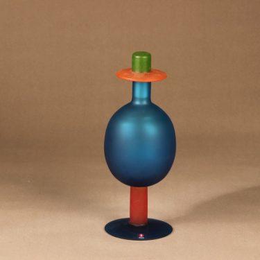 Nuutajärvi Pro Arte art glass OZ blue designer Oiva Toikka
