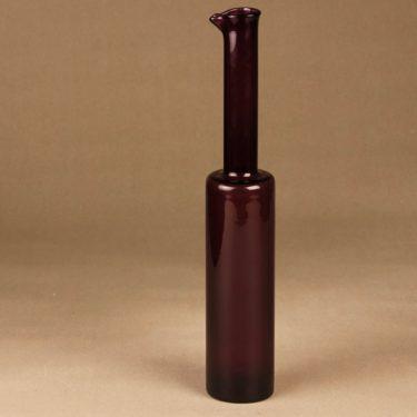 Riihimäen lasi 1735 art glass bottle dark purple designer Nanny Still