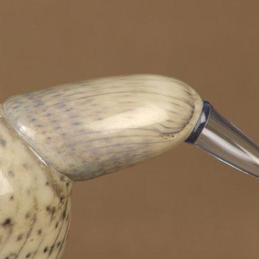 Nuutajärvi lintu , Ukkohaikara, suunnittelija Oiva Toikka, Ukkohaikara, signeerattu kuva 6