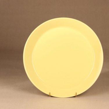 Arabia Kilta tarjoilulautanen, keltainen, suunnittelija Kaj Franck, matala, suuri