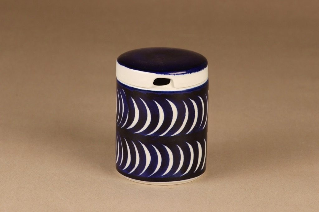 Arabia Blue decorative 2 jam jar, hand-painted designer Esteri Tomula