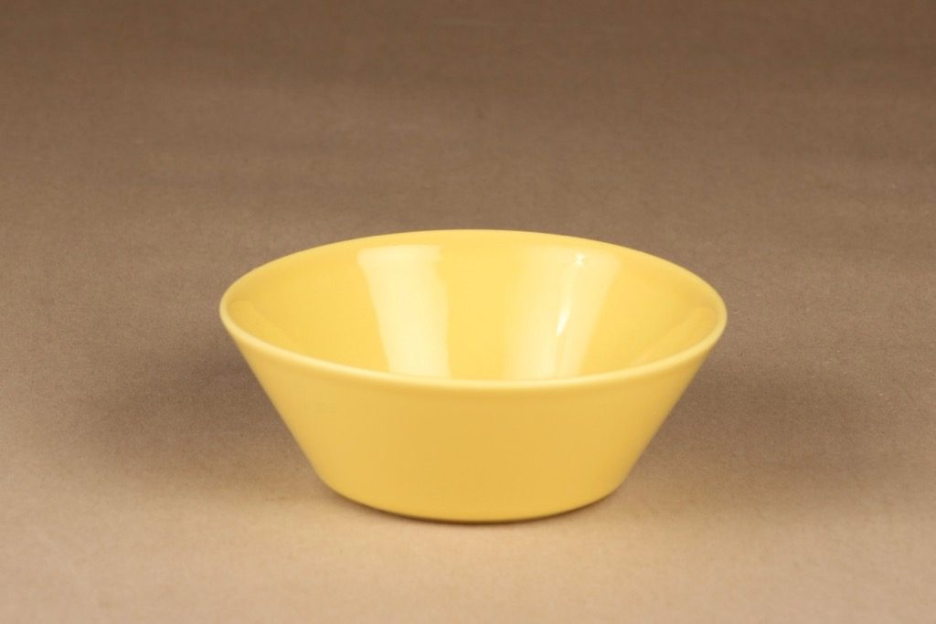Arabia Teema aamiaiskulho, keltainen, suunnittelija Kaj Franck,