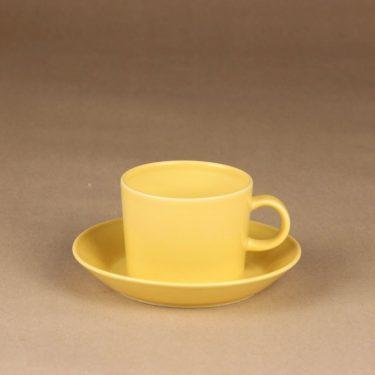 Arabia Teema teekuppi, keltainen, suunnittelija Kaj Franck,