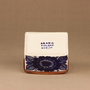 Arabia Köökki suola-astia, käsinmaalattu, suunnittelija Gunvor Olin-Grönqvist, käsinmaalattu, signeerattu, salkkari kuva 3