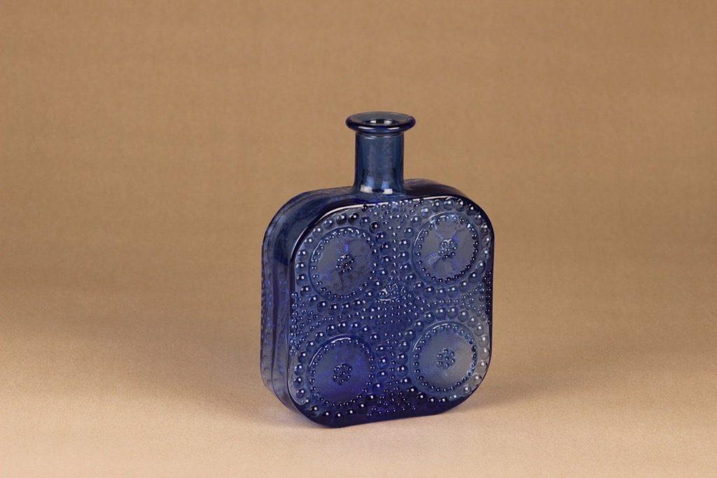 Riihimäen lasi Grapponia bottle blue designer Nanny Still