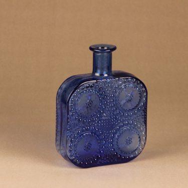 Riihimäen lasi Grapponia pullo, sininen, suunnittelija Nanny Still,