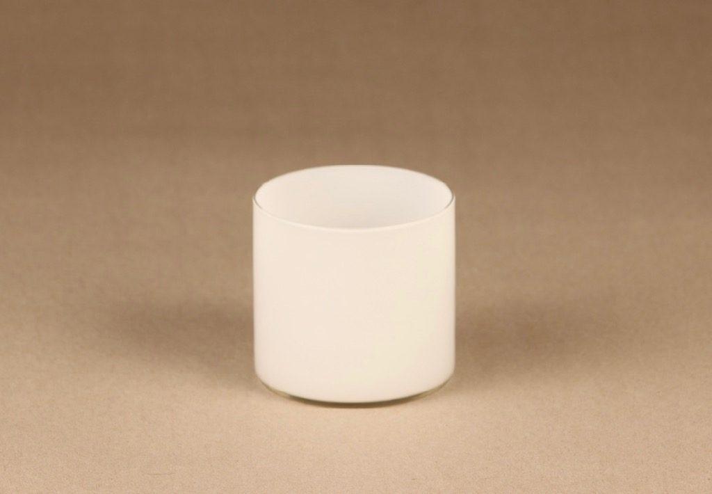 Iittala 2514 lasi, valkoinen, suunnittelija Timo Sarpaneva,
