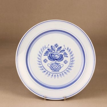 Arabia Blue Rose dinner plate 24.3 cm, designer Svea Granlund, hand-painted, flower decoration