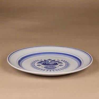 Arabia Blue Rose lautanen, matala 24.3 cm, suunnittelija Svea Granlund, matala 24.3 cm, käsinmaalattu,kukka-aihe kuva 3