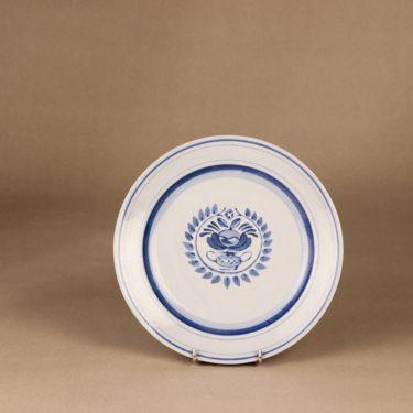 Arabia Blue Rose lautanen, matala 21 cm, suunnittelija Svea Granlund, matala 21 cm, käsinmaalattu,kukka-aihe
