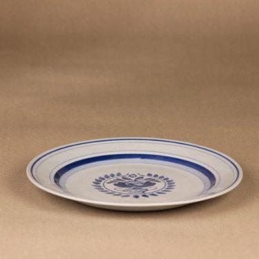 Arabia Blue Rose lautanen, matala 21 cm, suunnittelija Svea Granlund, matala 21 cm, käsinmaalattu,kukka-aihe kuva 3