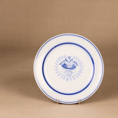 Arabia Blue Rose dinner plate 19.5 cm, designer Svea Granlund, hand-painted, flower decoration